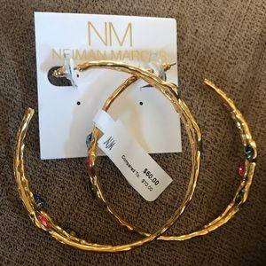 Neiman Marcus Hoop Earrings